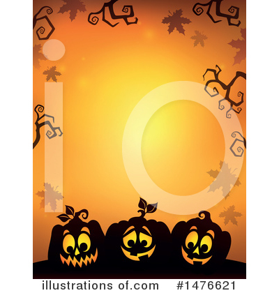 Halloween Pumpkins Clipart #1476621 by visekart