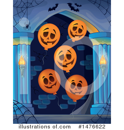 Royalty-Free (RF) Halloween Clipart Illustration by visekart - Stock Sample #1476622
