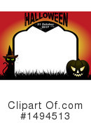 Royalty-Free (RF) Halloween Clipart Illustration #1494513