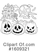 Halloween Clipart #1609321 by visekart