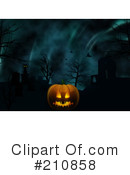 Royalty-Free (RF) Halloween Clipart Illustration #210858