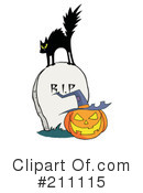 Royalty-Free (RF) Halloween Clipart Illustration #211115
