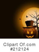 Royalty-Free (RF) Halloween Clipart Illustration #212124