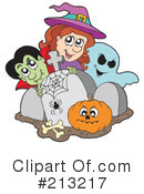 Royalty-Free (RF) Halloween Clipart Illustration #213217