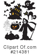 Royalty-Free (RF) Halloween Clipart Illustration #214381