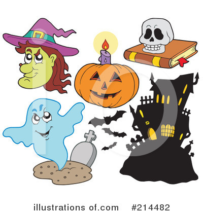 Royalty-Free (RF) Halloween Clipart Illustration by visekart - Stock Sample #214482