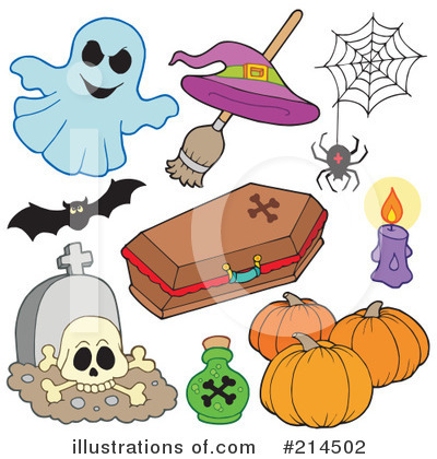 Royalty-Free (RF) Halloween Clipart Illustration by visekart - Stock Sample #214502
