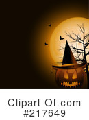 Royalty-Free (RF) Halloween Clipart Illustration #217649