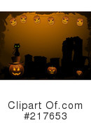 Royalty-Free (RF) Halloween Clipart Illustration #217653