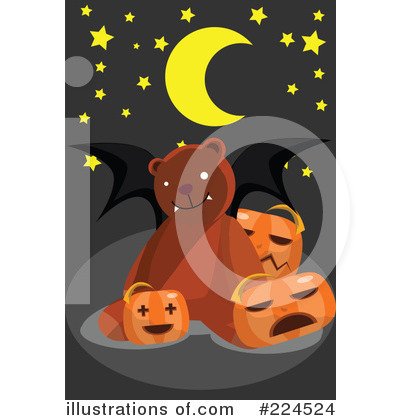 Royalty-Free (RF) Halloween Clipart Illustration by mayawizard101 - Stock Sample #224524