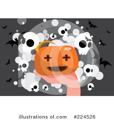Royalty-Free (RF) Halloween Clipart Illustration by mayawizard101 - Stock Sample #224526