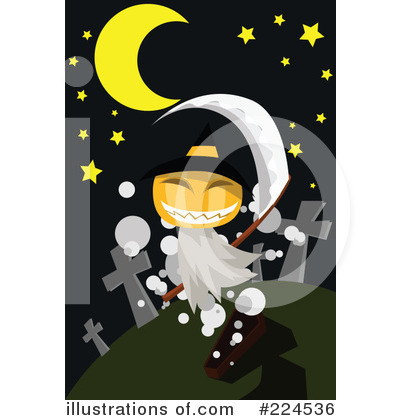 Royalty-Free (RF) Halloween Clipart Illustration by mayawizard101 - Stock Sample #224536