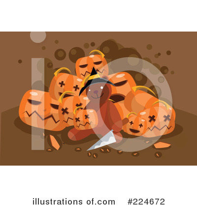 Royalty-Free (RF) Halloween Clipart Illustration by mayawizard101 - Stock Sample #224672