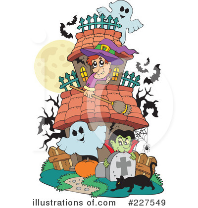 Royalty-Free (RF) Halloween Clipart Illustration by visekart - Stock Sample #227549