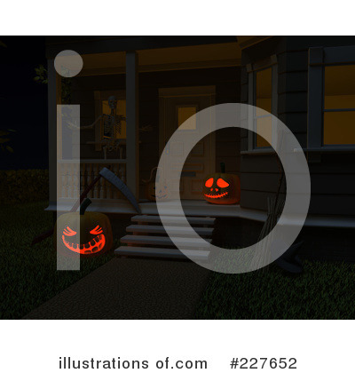 Royalty-Free (RF) Halloween Clipart Illustration by KJ Pargeter - Stock Sample #227652