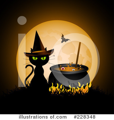 Witchs Cat Clipart #228348 by elaineitalia