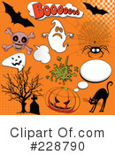 Royalty-Free (RF) Halloween Clipart Illustration #228790