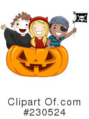 Royalty-Free (RF) Halloween Clipart Illustration #230524