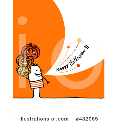 Royalty-Free (RF) Halloween Clipart Illustration by NL shop - Stock Sample #432065