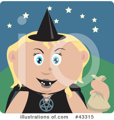 Witch Clipart #43315 by Dennis Holmes Designs