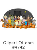 Royalty-Free (RF) halloween Clipart Illustration #4742