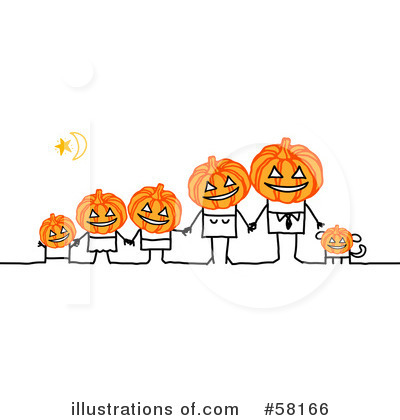 Royalty-Free (RF) Halloween Clipart Illustration by NL shop - Stock Sample #58166