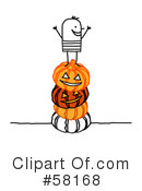 Royalty-Free (RF) Halloween Clipart Illustration #58168