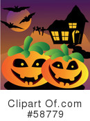 Royalty-Free (RF) Halloween Clipart Illustration #58779
