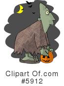 Royalty-Free (RF) Halloween Clipart Illustration #5912