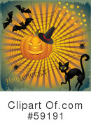 Royalty-Free (RF) Halloween Clipart Illustration #59191