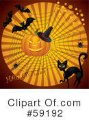 Royalty-Free (RF) Halloween Clipart Illustration #59192