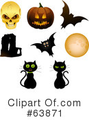 Royalty-Free (RF) Halloween Clipart Illustration #63871