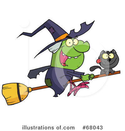 Witchs Cat Clipart #68043 by Hit Toon