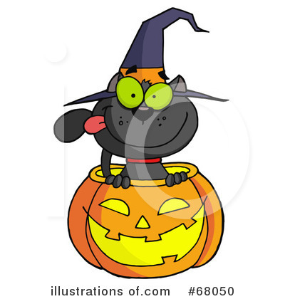 Witchs Cat Clipart #68050 by Hit Toon