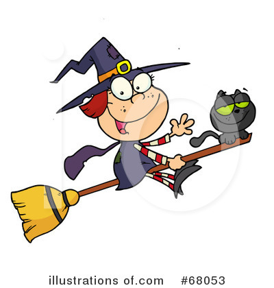 Witchs Cat Clipart #68053 by Hit Toon