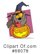 Royalty-Free (RF) Halloween Clipart Illustration #68078