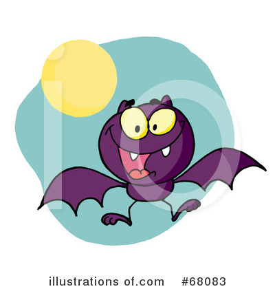 Flying Bat Clipart #68083 by Hit Toon