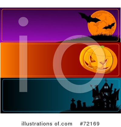 Royalty-Free (RF) Halloween Clipart Illustration by Pushkin - Stock Sample #72169
