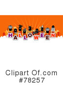 Royalty-Free (RF) Halloween Clipart Illustration #78257
