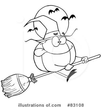 Royalty-Free (RF) Halloween Clipart Illustration by Hit Toon - Stock Sample #83108