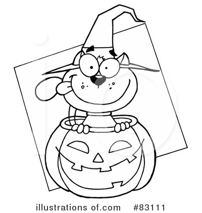 Witchs Cat Clipart #83111 by Hit Toon