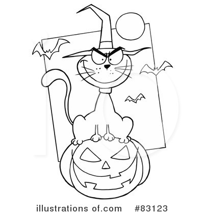 Witchs Cat Clipart #83123 by Hit Toon