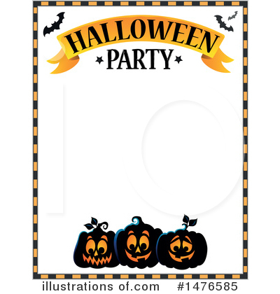 Halloween Party Clipart #1476585 by visekart