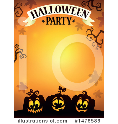 Halloween Party Clipart #1476586 by visekart