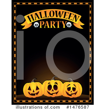 Halloween Party Clipart #1476587 by visekart