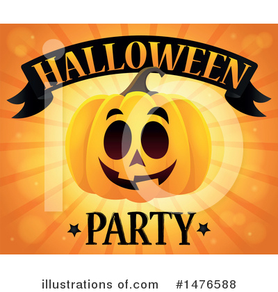 Halloween Party Clipart #1476588 by visekart