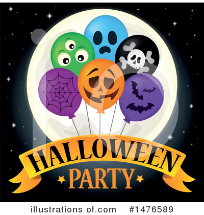 Halloween Party Clipart #1476589 by visekart