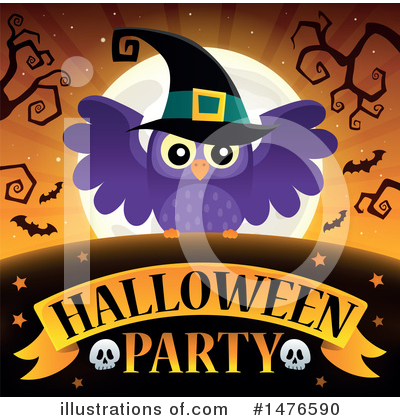 Halloween Party Clipart #1476590 by visekart