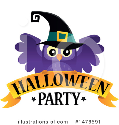 Halloween Party Clipart #1476591 by visekart
