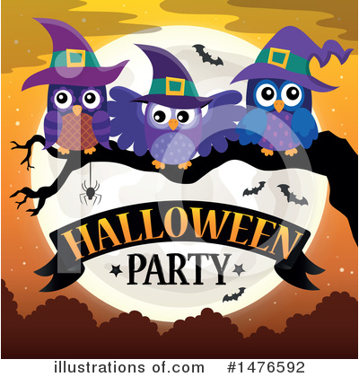 Royalty-Free (RF) Halloween Party Clipart Illustration by visekart - Stock Sample #1476592